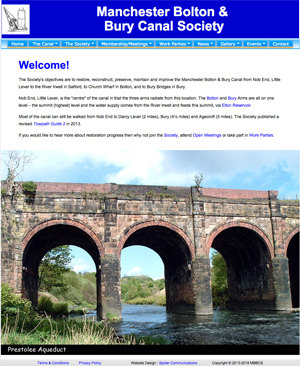 Manchester Bolton & Bury Canal Society home page